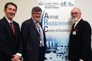 Brett Cochrane, Mike Philpott and Peter Egan at the opening of The ARC