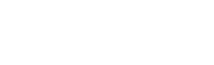 Fundraising Regulator logo - white