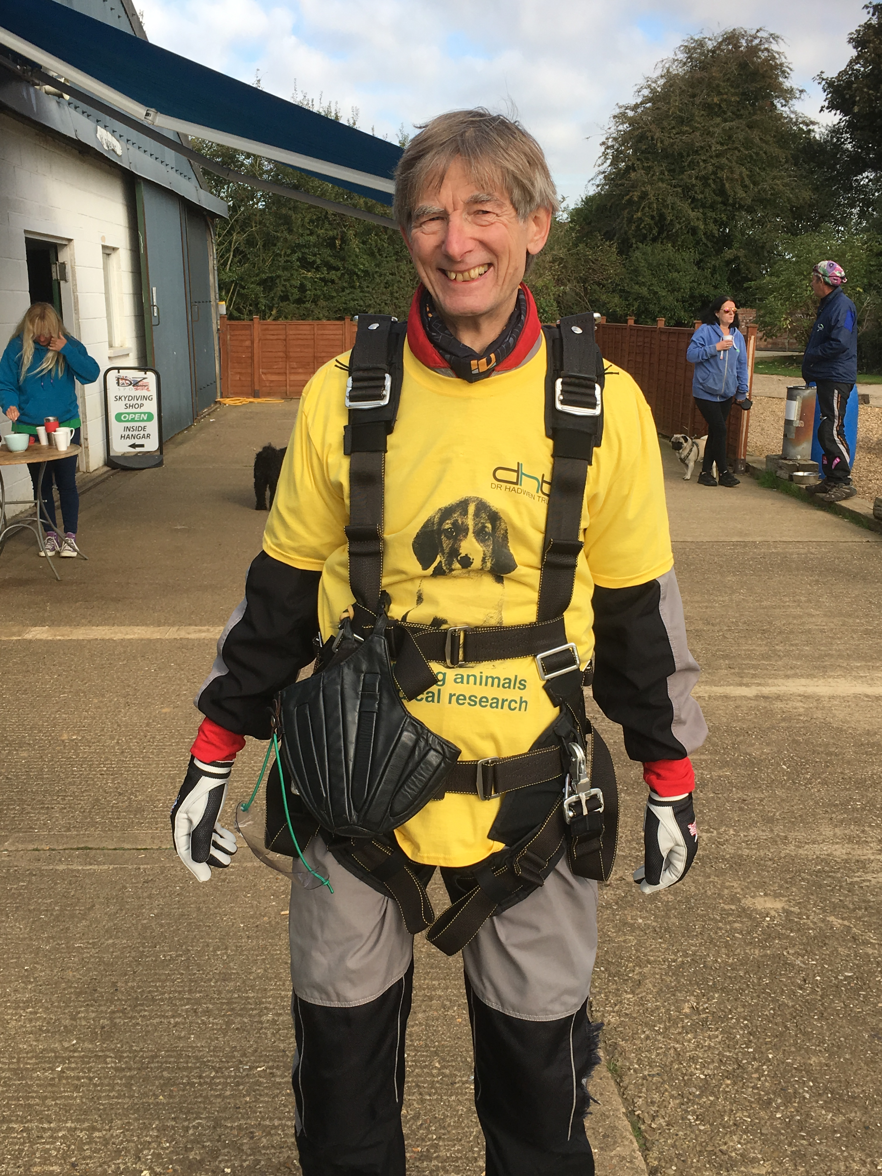 Supporter at a skydive
