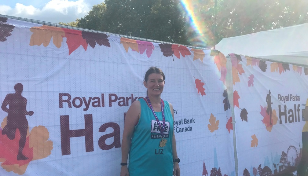 Supporter Liz Begg at the Royal Parks Half Marathon