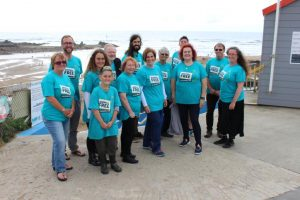 Bude fundraising group at the beach