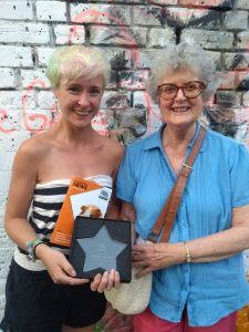 Ellie Hale and Pat Maxwell from the London Group with their outstanding fundraising award
