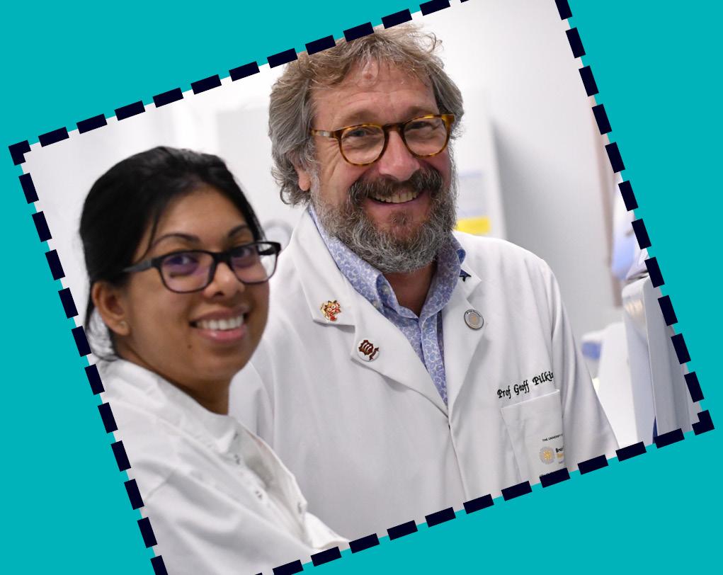 Professor Pilkington and Zaynah Maherally